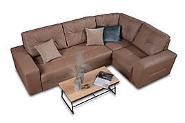 Модульный угловой кожаный диван Калифорния
