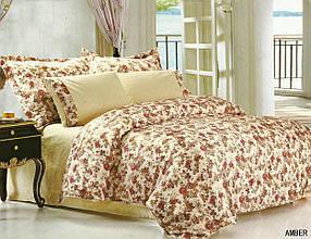 Комплект постельного белья Le Vele amber , сатин-жатый шелк, двуспальный евро 200х220см