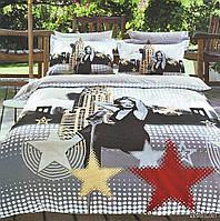 Комплект постельного белья Le Vele marilyn, Сатин 3D (100% Хлопок), двуспальный евро 200х220см