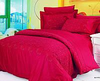 Постельное белье жаккард  (100% хлопок) LE VELE Beatrice Burgundy, двуспальное евро 200*220