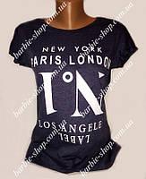 Черная футболка для женщин №1