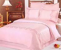 Постельное белье жаккард  (100% хлопок) LE VELE beatrice pink, двуспальное евро 200*220