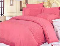 Постельное белье жаккард  (100% хлопок) LE VELE beatrice rose, двуспальное евро 200*220