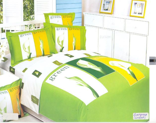 Семейный набор постельного белья LE VELE ever green, сатин