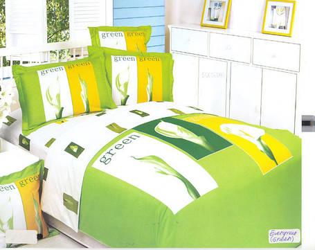 Семейный набор постельного белья LE VELE ever green, сатин, фото 2