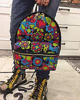 Рюкзак Цветы Красивый Модный Рюзкачок Стильная Сумка Мультяшки