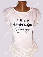 Интересная женская футболка