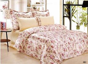 Комплект постельного белья Le Vele ANI , сатин-жатый шелк, двуспальный евро 200х220см