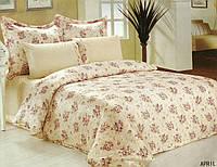 Комплект постельного белья Le Vele april , сатин-жатый шелк, двуспальный евро 200х220см