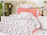 Комплект постельного белья Le Vele lavander, сатин-жатый шелк, двуспальный евро 200х220см