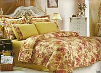 Комплект постельного белья Le Vele tual, сатин-жатый шелк, двуспальный евро 200х220см