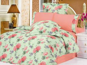Комплект постельного белья Le Vele sandra , сатин-жатый шелк, двуспальный евро 200х220см