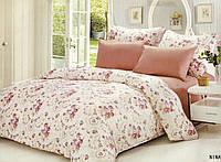 Комплект постельного белья Le Vele nina , сатин-жатый шелк, двуспальный евро 200х220см