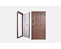 Двери входные Zimen Fort 3 - Дуэт 112 (дуб мокко-кашемир) 860*2050 мм.