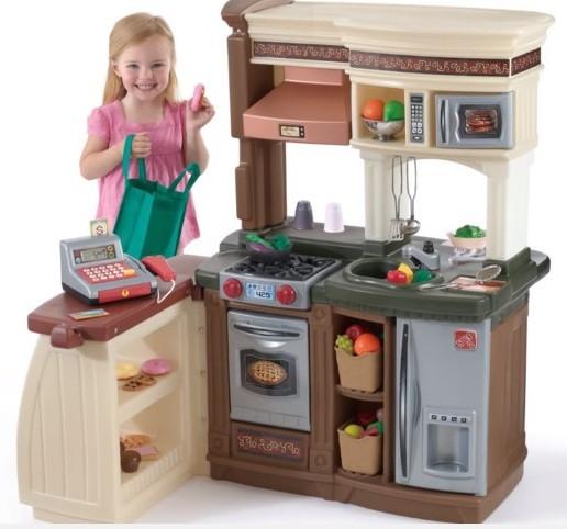 Кухни игрушечные, бытовая техника, посуда, овощи-фрукты