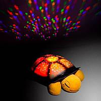 Музыкальный ночник «Черепашка», проектор звездного неба Twilight turtle +USB шнур!, Акция