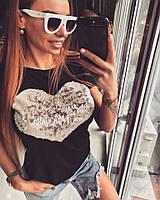 """Модная футболка """"Сердце"""""""