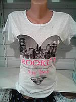 Стильная летняя спортивная футболка с принтом., фото 1