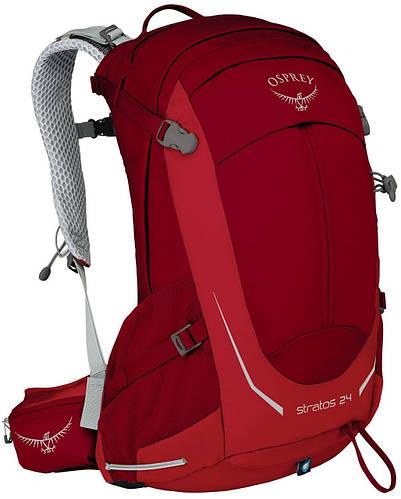 Вместительный, удобный рюкзак на 24 л. Osprey Stratos 24 O/S красный