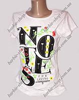Класная белая футболочка для девочек