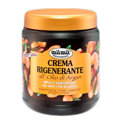 Маска для волосся MilMil crema rigenerante передній olio di argan з аргановою олією 1000 ml