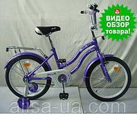 Детский двухколесный велосипед PROFI Star  L1493 для детей от 3 лет 14 дюймов, фиолетовый