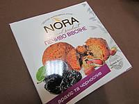 """Печенье овсяное натуральное Nora  """"Арахис и чернослив"""", 250 гр"""