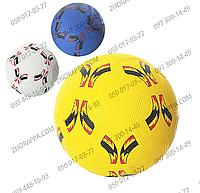 Мяч футбольный VA-0024, размер 5, резина Grain, сетка, 3 цвета, вес 350 грамм, в кульке, детские игры