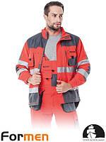 Куртка FORMEN сигнальная рабочая прочная красная Lebber&Hollman Польша (рабочая мужская одежда) LH-FMNX-J CSB