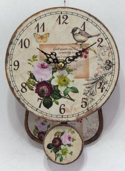 """Часы настенные кварцевые  с маятником в стиле """" Прованс """", фото 2"""