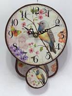 """Часы настенные кварцевые  с маятником в стиле """" Прованс """""""