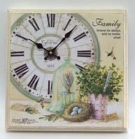 """Часы картина настенные кварцевые  в стиле """" Прованс """""""