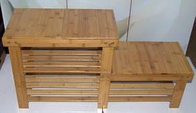 Полка скамья  для обуви бамбуковая 86 см * 44 см * 28 см, 7445-1 С
