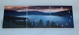 Картина часы триптих настенные, кварцевые, фото 2