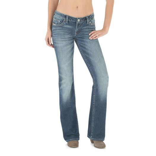 Джинсы Wrangler Rock 47 Boot Cut, Medium Blue