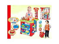 Детская игра магазин с аксессуарами (прилавок,тележка,