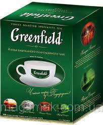 Подарочный чай Greenfield с чашкой (4 вида по 25 пакетов), фото 2