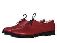 Красные туфли на тракторной подошве, фото 1