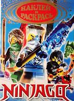 """Раскраска а5 """"Ninjago"""" с наклейками, фото 1"""