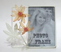 Рамка для фото 10*15, настольная, метал, стекло
