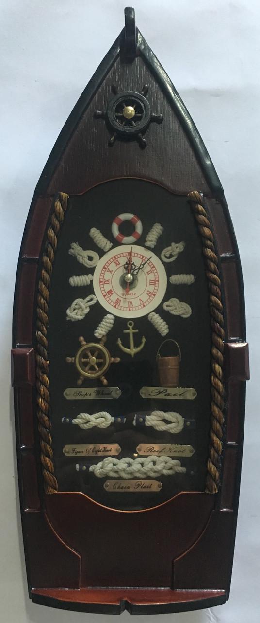 """Настенные деревянные кварцевые часы """" Лодка """""""