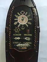 """Настенные деревянные кварцевые часы """" Лодка """", фото 2"""