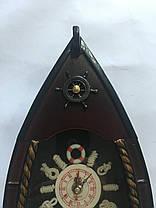 """Настенные деревянные кварцевые часы """" Лодка """", фото 3"""