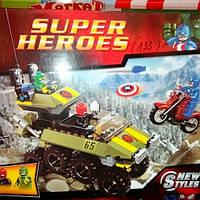 Конструктор Bela 10238 Super Heroes Капитан Америка против Гидры 171 деталь. Аналог лего 76017