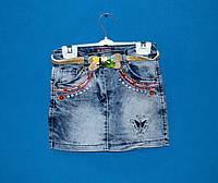 Детские джинсовые юбки для девочки 1-5 лет, Юбки детские оптом
