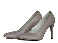 Бежевые туфли на шпильке, фото 1