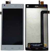 Дисплей (экран) для телефона Fly FS452 + Touchscreen Original White