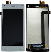 Дисплей (экран) для телефона Fly FS452 + Touchscreen White