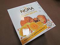 """Печенье овсяное натуральное NORA  """"Кунжут и цукаты ананаса"""", 250 гр"""
