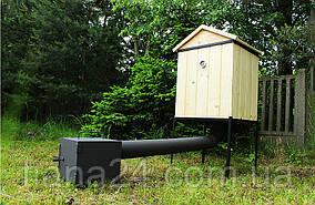 Коптильня деревянная с дымоходом